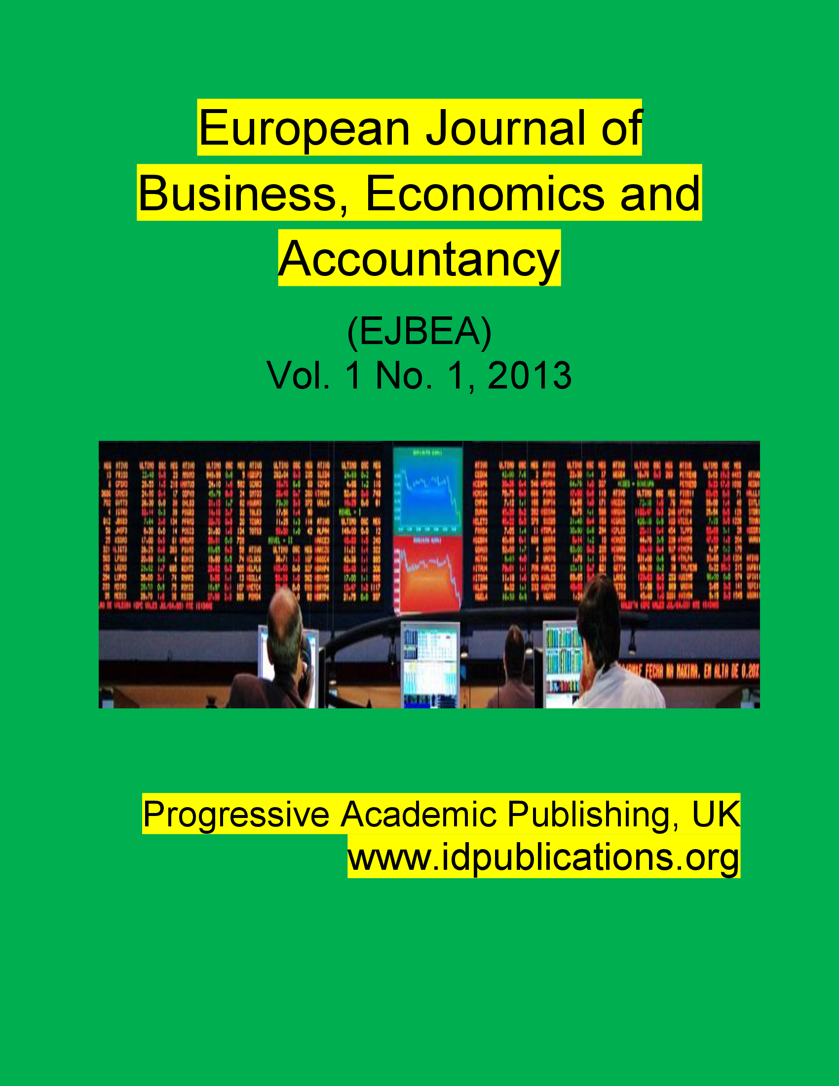 european journal of business and managementissn The european journal of applied business and management (ejabm) is an international double-blind-peer-reviewed, open-access academic journal that publishes original empirical and theoretical research articles.