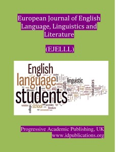 Cover Page, European Journal of English language, Linguistics and Literature-page-001